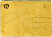 Vintage postcard. Vintage russian postcard on white background Royalty Free Stock Photo