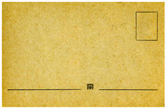 Vintage postcard. Vintage postcard on white background Stock Image