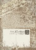 Vintage postcard. Grunge Stock Photography
