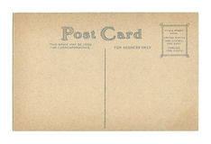 Vintage Postcard. Back of vintage postcard isolated on a white background Royalty Free Stock Image