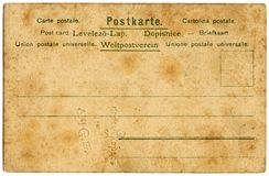 Vintage Postcard. With notices in various languages Royalty Free Stock Photos