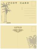Vintage postcard Albania Royalty Free Stock Image