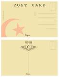 Vintage postcard Algeria Royalty Free Stock Images