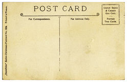 Vintage Postcard Back Stock Photo