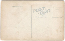 Vintage Postcard Back Artwork 1900s-1910. Artwork of a vintage American 1900s-1910s real photo postcard back RPPC or verso. Blank with text area. Isolated with royalty free illustration