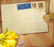 Vintage postcard background Stock Photography