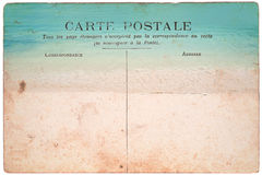 Vintage postcard. With beach background stock photography