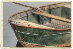 Vintage postcard of boat Royalty Free Stock Photo