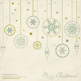 Vintage postcard with Christmas elements vector illustration