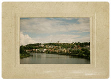 Vintage postcard for the city of Trondheim, Norway Royalty Free Stock Photos