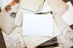 Vintage Postcard Collage Background Stock Image