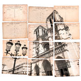 Vintage postcard collage Royalty Free Stock Photos