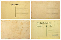 Vintage postcard collection Royalty Free Stock Photo