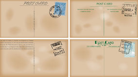 Vintage postcard designs Stock Image