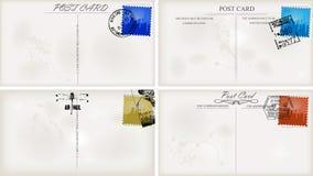 Vintage postcard designs Royalty Free Stock Photos