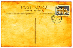 Vintage postcard with faded faux British stamp Stock Photography
