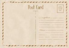 Vintage postcard. Vintage floral postcard on old paper texture. Vector illustration stock illustration