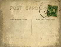 Vintage postcard with grungy background royalty free illustration