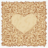 Vintage postcard with heart. Stock Images