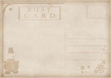 Vintage postcard illustration Royalty Free Stock Image