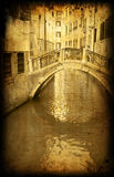 Vintage postcard, italian Venice royalty free stock images