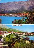 Vintage postcard of makarska, croatia Stock Photography
