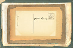 Vintage Postcard on Old Papers Royalty Free Stock Photos