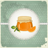 Vintage Postcard - Orange Jam Royalty Free Stock Photo