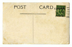 Vintage Postcard. A vintage Postcard over a plain white background Royalty Free Stock Photos