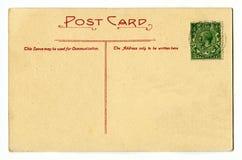 Vintage Postcard. A vintage Postcard over a plain white background Stock Photography