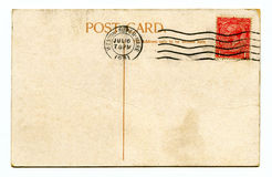 Vintage Postcard. A vintage Postcard over a plain white background Stock Images