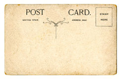 Vintage Postcard. A vintage Postcard over a plain white background stock photography