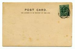 Vintage Postcard. A vintage postcard over a plain white background Stock Photos