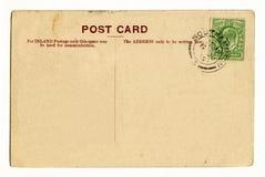 Vintage Postcard. A vintage postcard over a plain white background Stock Photo