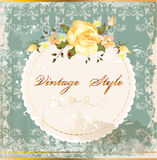 Vintage postcard with roses Royalty Free Stock Photos