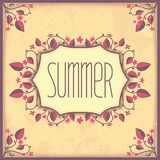 Vintage postcard in a rustic style Stock Photos