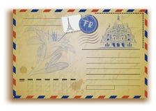 Vintage postcard with Sacre Coeur Royalty Free Stock Image