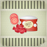 Vintage postcard - sweet candy Royalty Free Stock Images