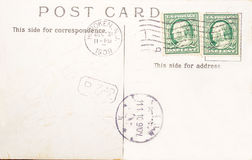 Vintage postcard of 1909 Royalty Free Stock Photography