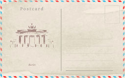Vintage postcard. Vector design. Capitals of the world Stock Photo
