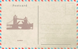 Vintage postcard. Vector design. Capitals of the world. London Stock Images