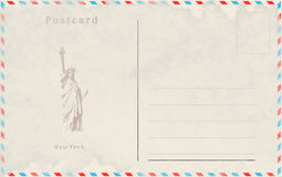 Vintage postcard. Vector design. Capitals of the world. New York Royalty Free Stock Photos