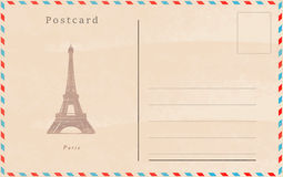 Vintage postcard. Vector design. Capitals of the world Royalty Free Stock Photo