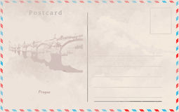 Vintage postcard. Vector design. Capitals of the world Royalty Free Stock Photos
