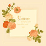 Vintage  postcard in Victorian style. Stock Photography