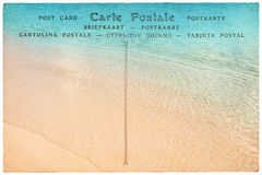 Vintage postcard on white, Royalty Free Stock Photography