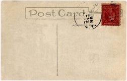Vintage postcard,1912 year Stock Image