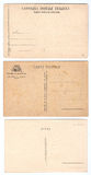 Vintage postcards. Collection (set) of 3 blank vintage postcards (Italian, Spanish and Israeli) useful for background Stock Photo