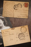 Vintage postcards Stock Image