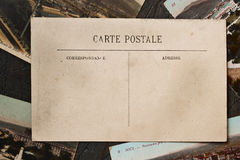Vintage postcards on the black background Royalty Free Stock Photo